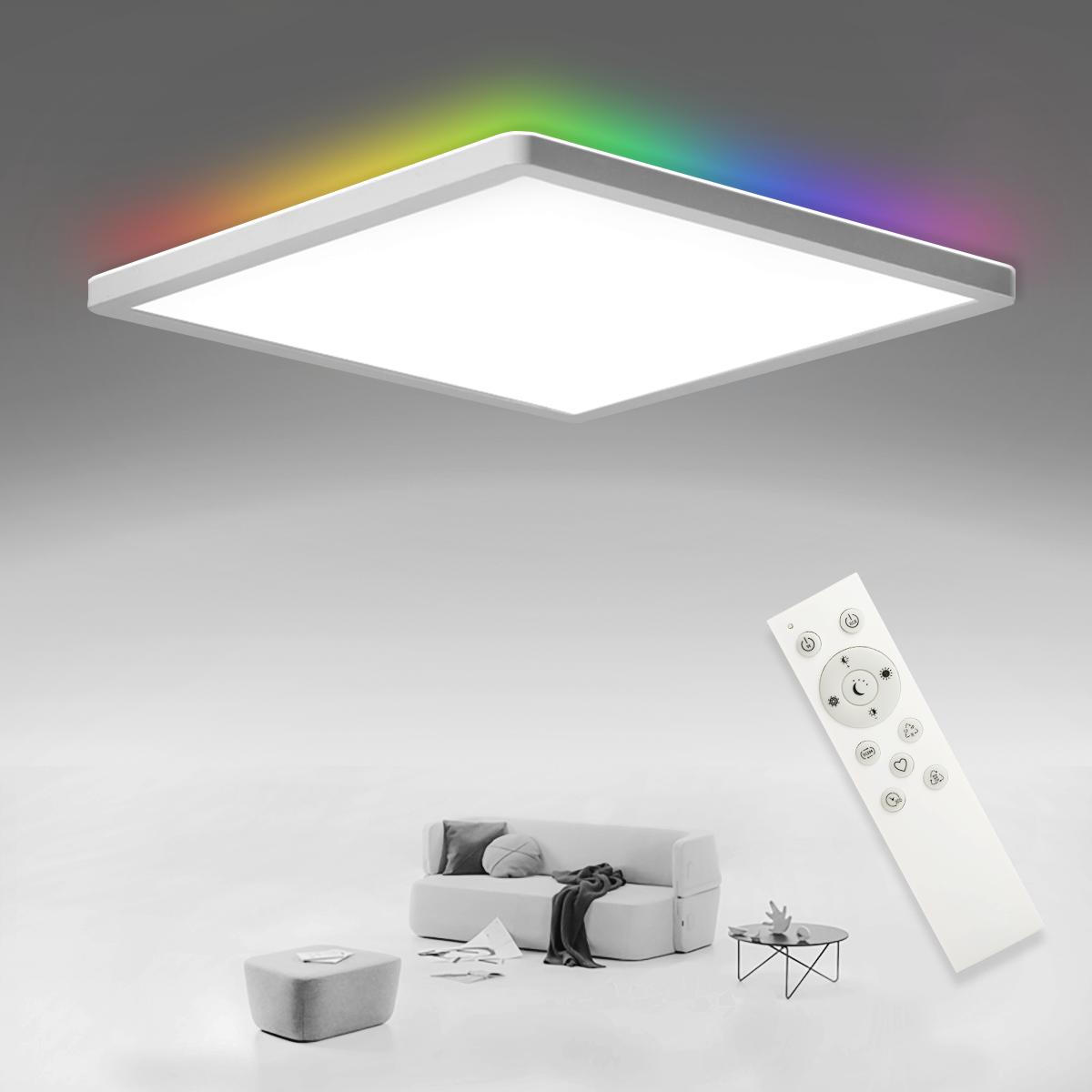 SHILOOK LED Deckenleuchte Flach Dimmbar mit Fernbedienung, 20W ...