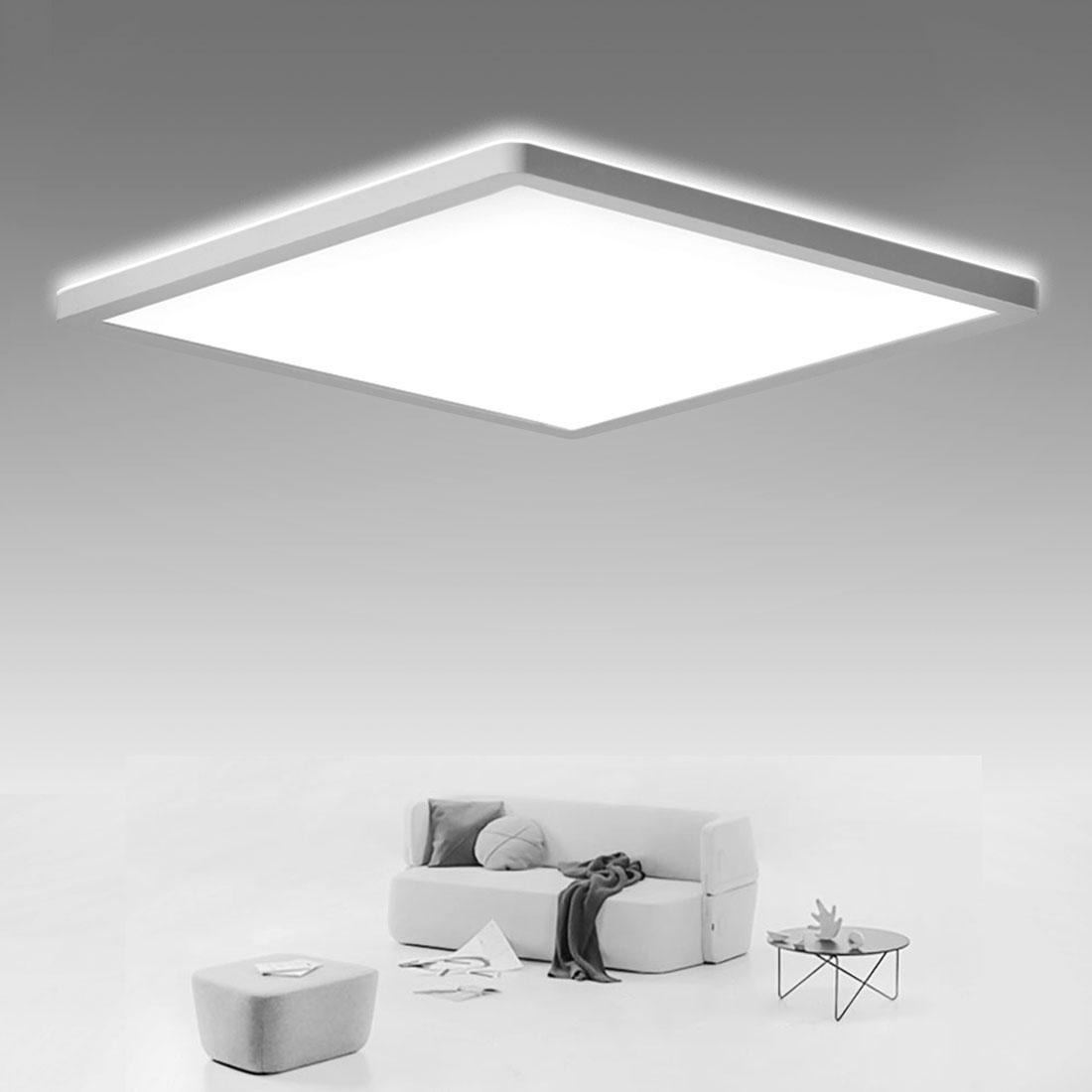 SHILOOK LED Deckenleuchte Flach, 20W Deckenlampe Eckig Panel für ...